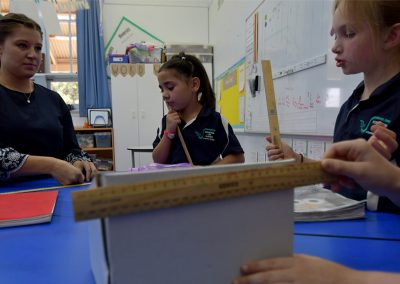 students measuring